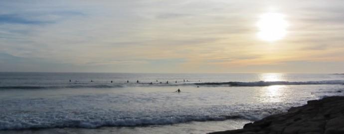 sunset surf taghazout morocco - salah el baz & stephie ontour